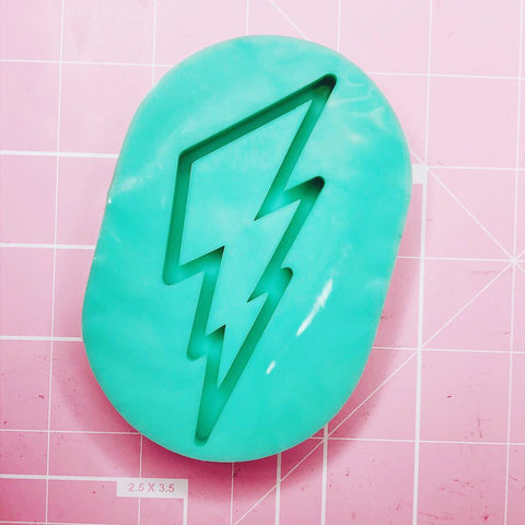 Oval Mold - Lightning Bolt (Backed Shaker) - Chala Atelier & Supplies