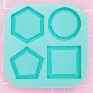 X-Large Square Mold -  Basic Shapes Palette (Backed Shakers) - Chala Atelier & Supplies