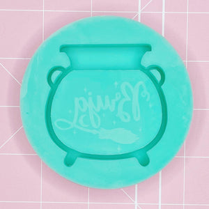 Single Cavity Mold: Bruja Cauldron - [Etched / Backed]