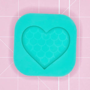 Single Cavity Mold  - Mermaid Heart (Etched Solid) - Chala Atelier & Supplies
