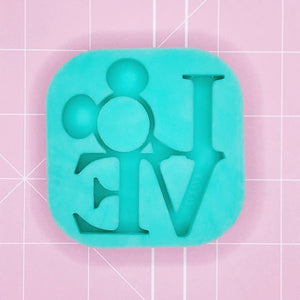Small Mold - Love Mickey Shaker (Etched / Backed) - Chala Atelier & Supplies