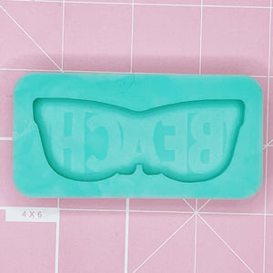 "Single Cavity Mold: ""Beach"" Sunglasses [Etched / Solid]"