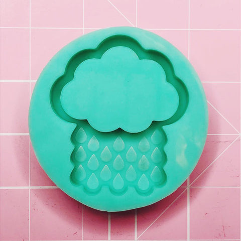 Round Mold - Rain Cloud (Backed Shaker) - Chala Atelier & Supplies