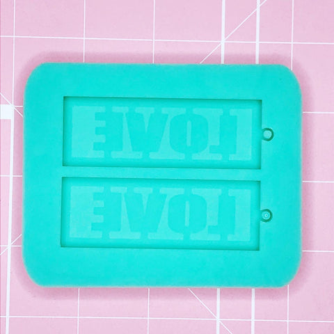 Earring Mold: 4 Letter Word - LOVE [Etched]