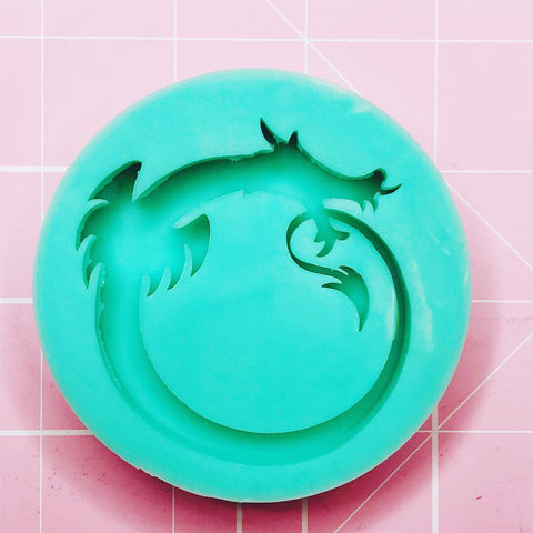Round Mold - Dragon Circle (Backed Shaker) - Chala Atelier & Supplies