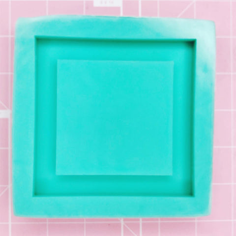 Coaster / Tray Mold -  Square (Backed) - Chala Atelier & Supplies
