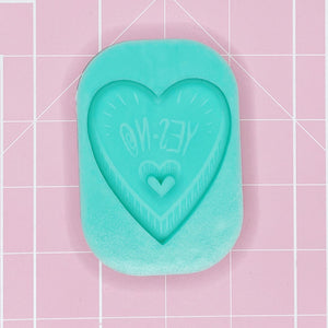 Single Cavity Mold:  Planchette Yes/No - [Etched / Solid]