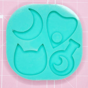 BF2020 -Palette Mold: Spooky Quad (Moon / Planchette / Cat / Moon Potion [Etched / Solid]
