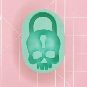 Oval Mold -  Skull Lock (Backed Shaker) - Chala Atelier & Supplies