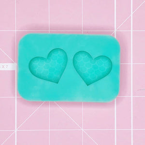 BF2020 -Earring Mold: Mermaid Heart Earrings (Etched Solid)