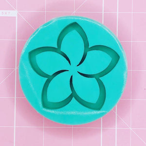 Round Mold - Plumeria Shaker (Backed) - Chala Atelier & Supplies