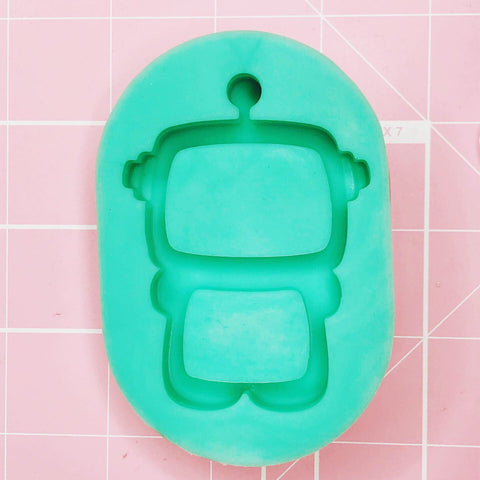 Small Mold - Data: The Chubby Robot (Backed Shaker) - Chala Atelier & Supplies