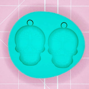 BF2020 -Earring Mold: Sugar Skull Earrings [Solid]