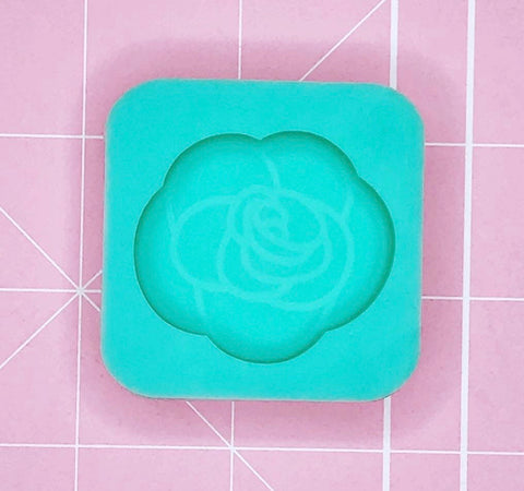 Single Grippie Mold: Etched Rose [Solid]