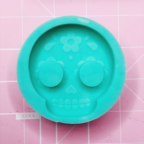 Round Mold - Sugar Skull - Chala Atelier & Supplies