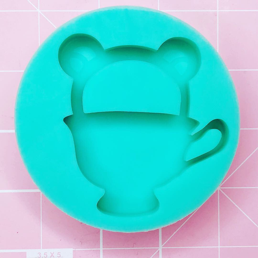 Small Round Mold -  Kuma Tea Time - Chala Atelier & Supplies