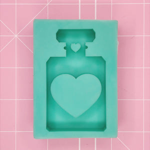 Small Oval Mold -  Heart Perfume Bottle (Shaker) - Chala Atelier & Supplies