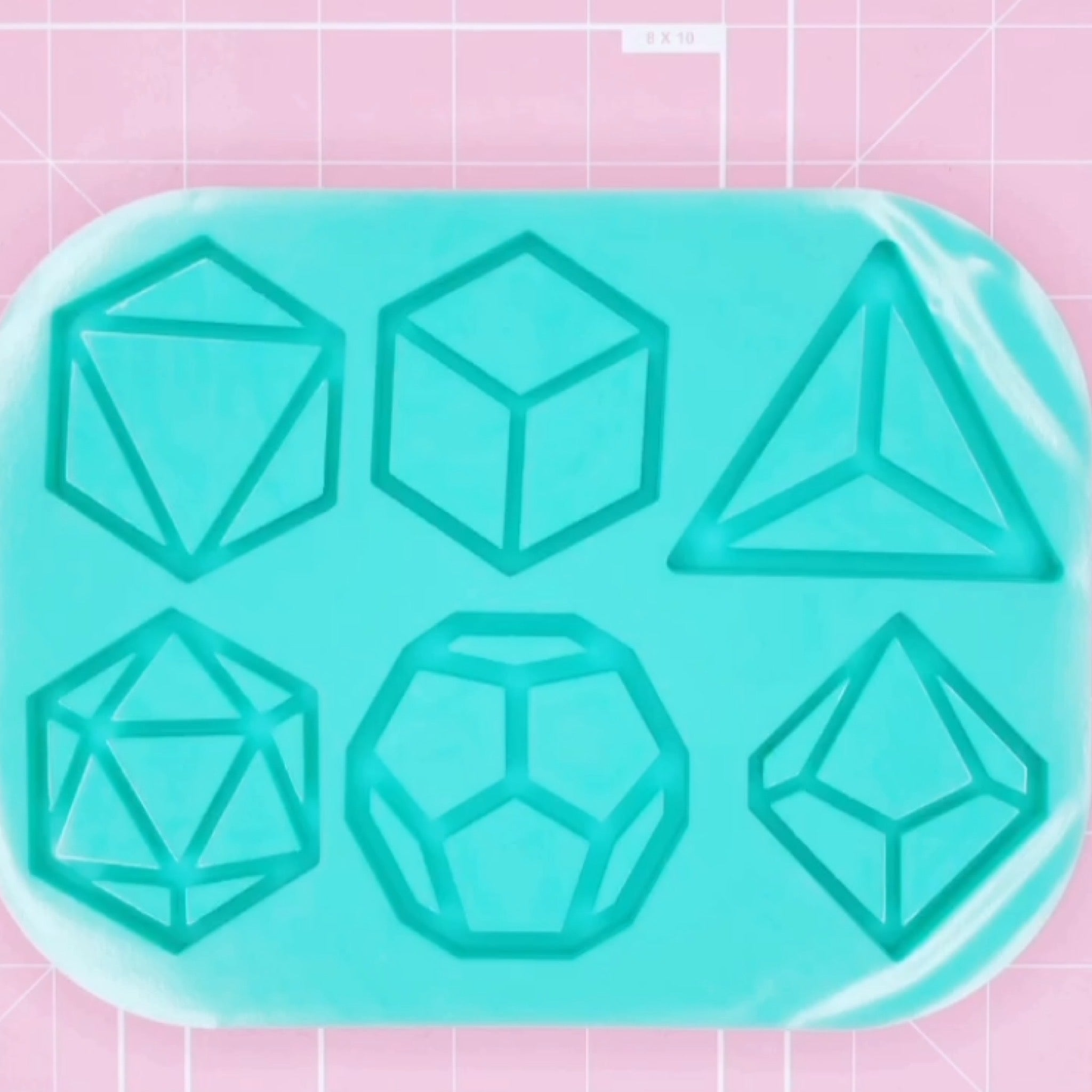 XL Mold - Tabletop RPG Dice Palette (Backed) - Chala Atelier & Supplies