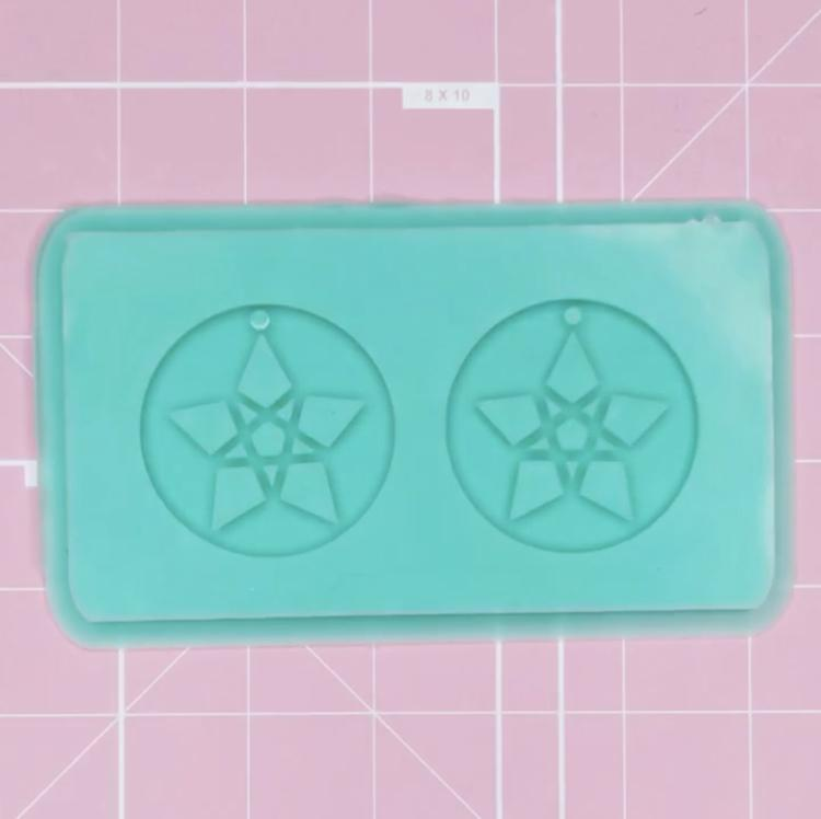 BF2020 -Earring Mold: Pentagram [Solid]