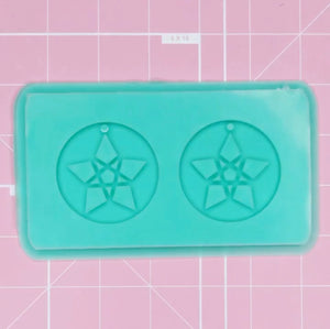 Earring Mold: Pentagram [Solid]