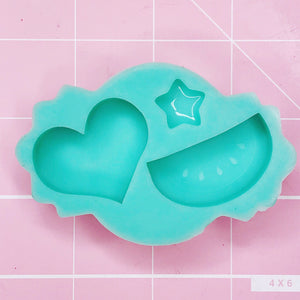 Small Mold -  Heart/Watermelon - Chala Atelier & Supplies