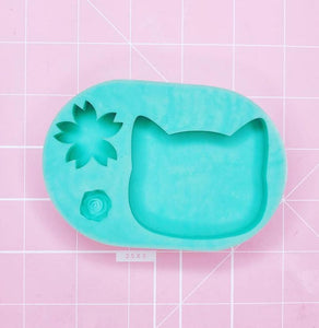 Small Mold - Cat Head (Sakura/Rose) - Chala Atelier & Supplies