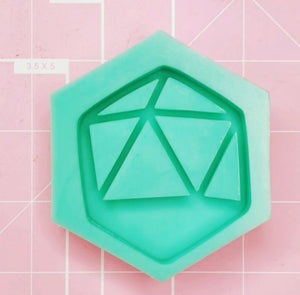 Hexagon Mold -  D20 Shaker (Backed) - Chala Atelier & Supplies