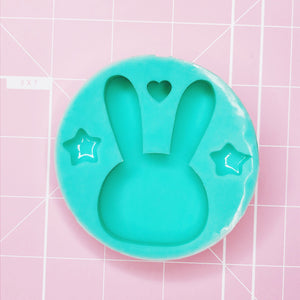 Small Round Mold - Bunny (Stars / Heart) - Chala Atelier & Supplies
