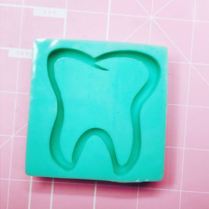 Square Mold -  Tooth / Molar (Backed Shaker) - Chala Atelier & Supplies