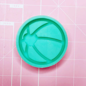 Round Mold -  Heart Beach Ball (Backed Shaker) - Chala Atelier & Supplies