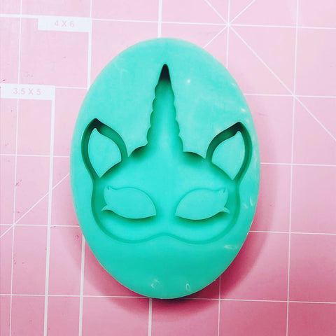 Oval Mold -  Unicorn Mask (Backed) - Chala Atelier & Supplies