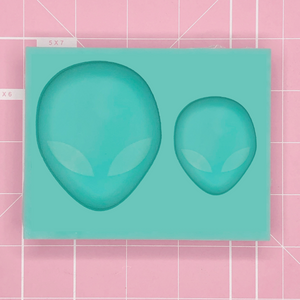 Duo Cavity Mold: Alien Head Charm & Grippie Duo [Etched / Solid]]