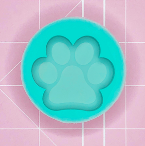 Single Grippie Mold: Paw Print [Etched / Solid]]