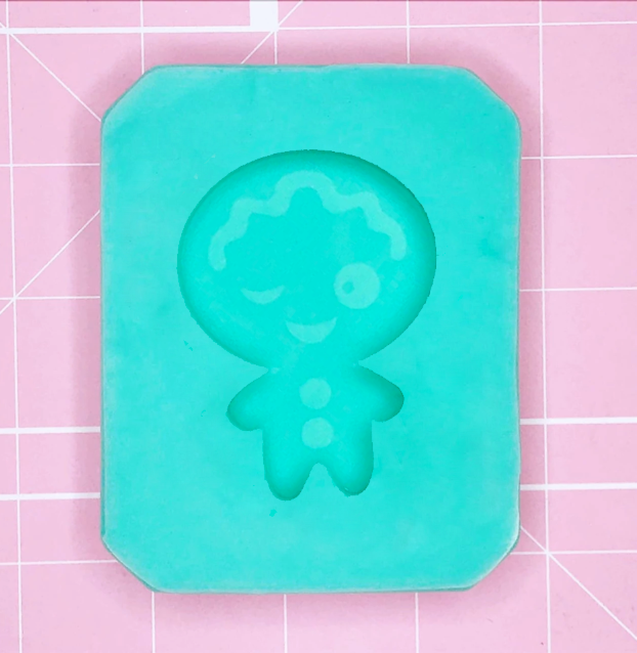 Single Cavity Mold: Gingerbread (Winky Face) [Etched / Solid]
