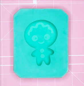 Single Cavity Mold: Gingerbread (All Smiles) [Etched / Solid]