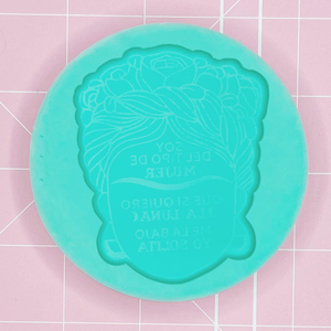 Single Cavity Mold: Frida Quote -  [Etched / Solid]