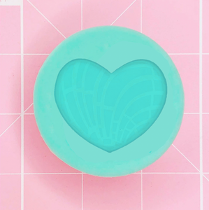 Single Grippie Mold: Concha / Pan Dulce Grippie (Heart) -  [Etched / Solid]