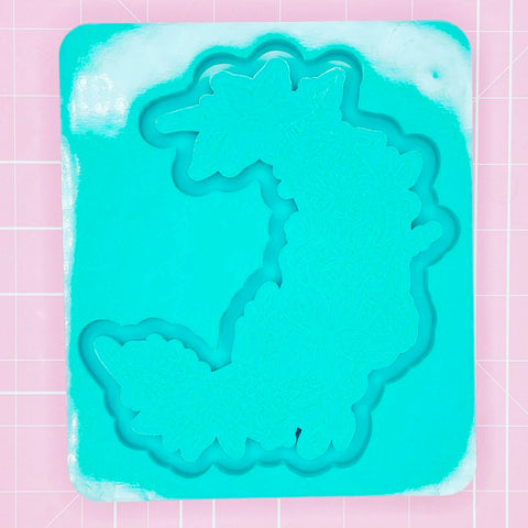 Tray Mold: Moon Flower Tray - Tropical [Etched / Backed]