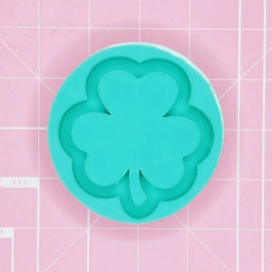 Round Mold - 3 Leaf Clover (Backed) - Chala Atelier & Supplies