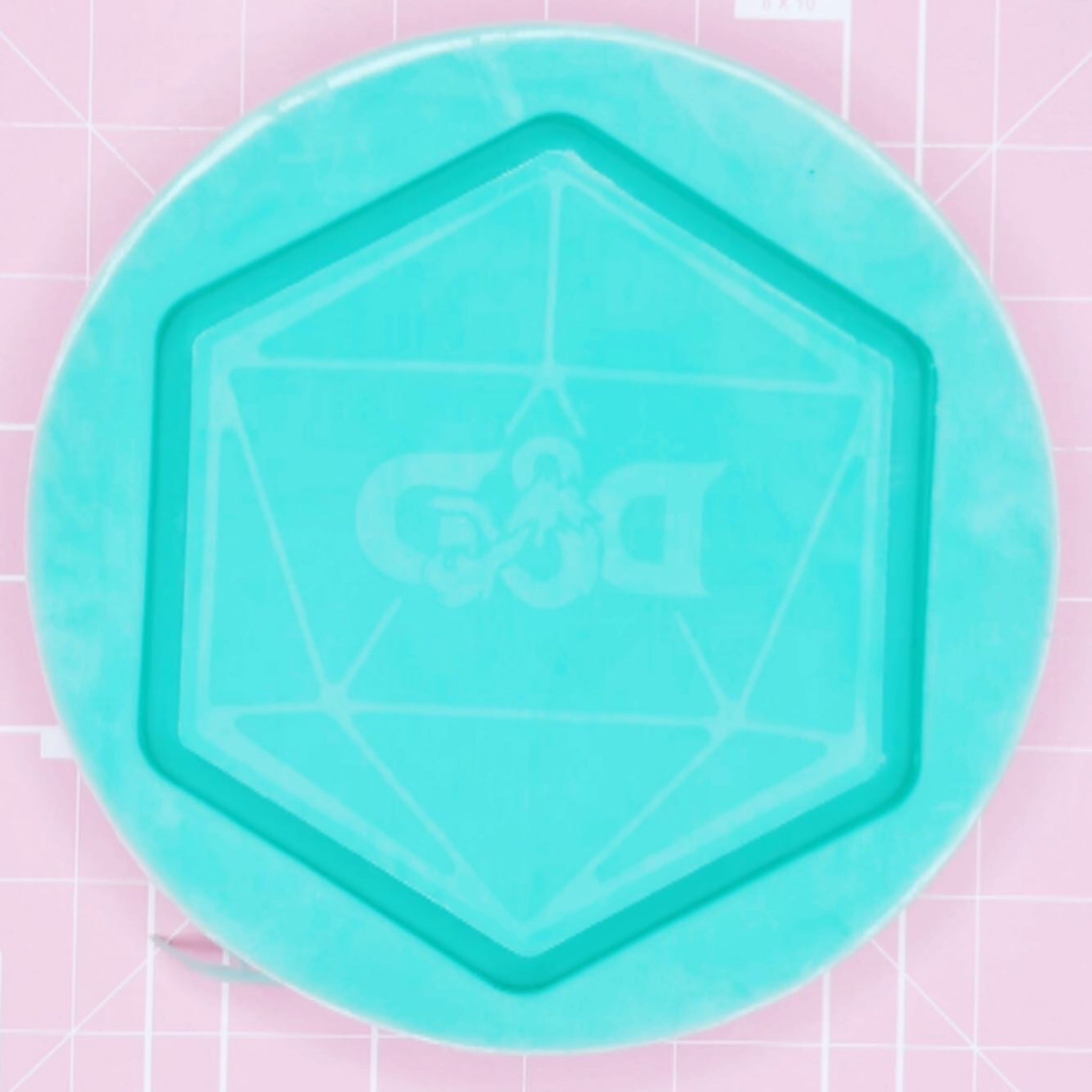 Tray Mold - DnD Logo D20 Tray (Backed) - Chala Atelier & Supplies