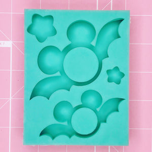 Rectangle Mold - Batty Mickey (Backed Shaker Duo Palette) - Chala Atelier & Supplies