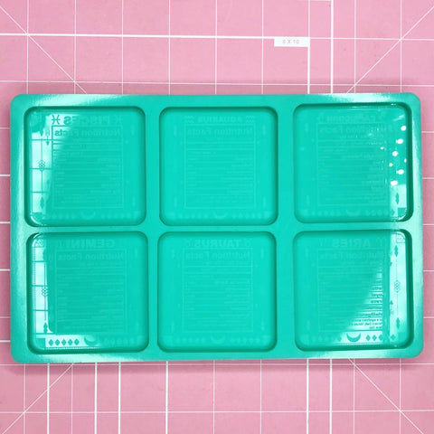 Palette Mold: Astrology Nutritional Facts Palette (Capricorn - Gemini) [Etched / Solid]