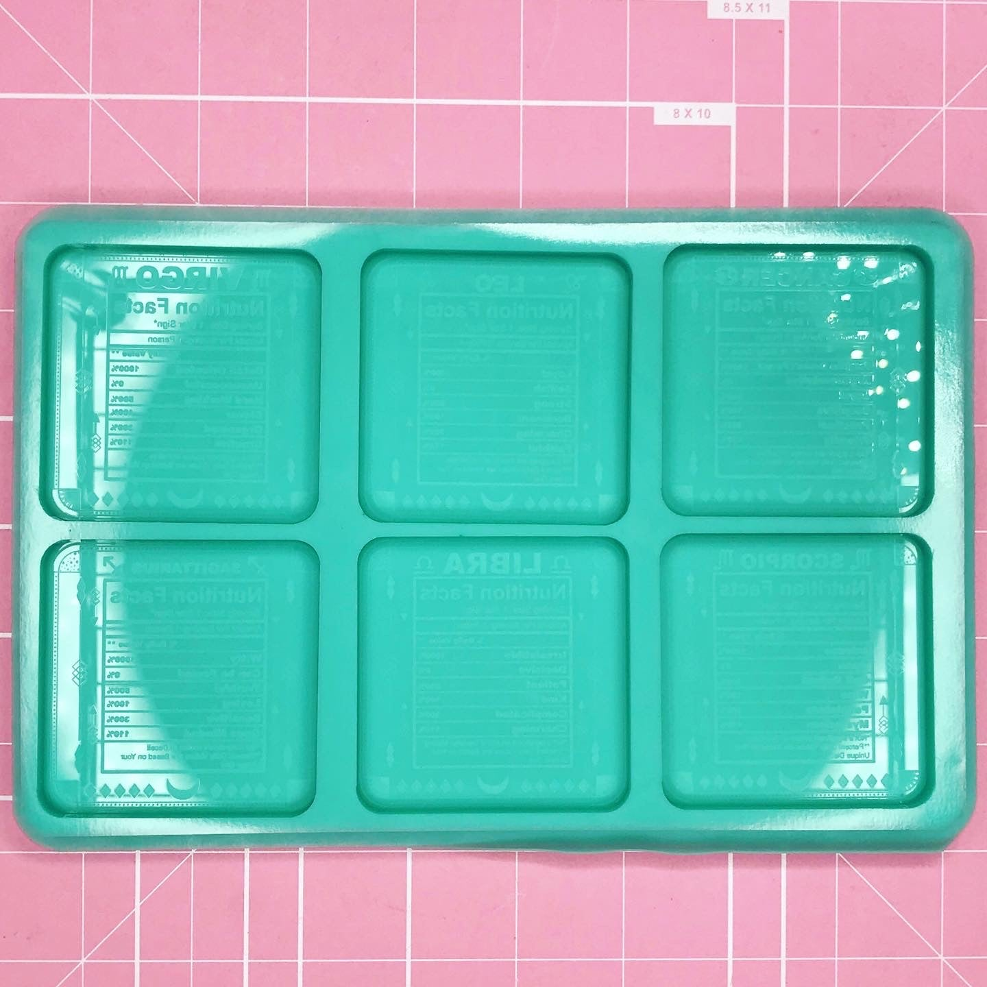 Palette Mold: Astrology Nutritional Facts Palette (Cancer - Sagittarius) [Etched / Solid]