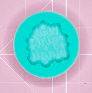 Single Grippie Mold: Black Girl Magic Grippie [Etched / Solid]