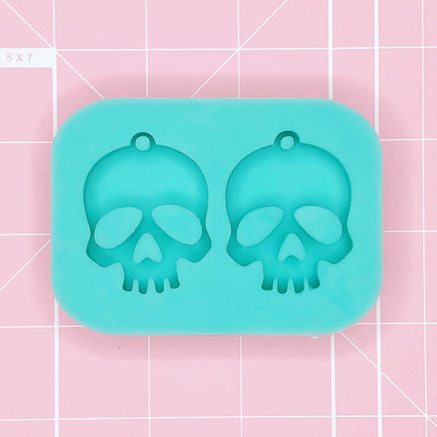 Earring Mold: Skull Earrings [Solid]