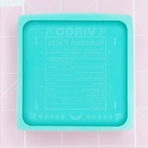 Single Cavity Mold: Astrology Nutritional Facts - Virgo [Etched / Solid]