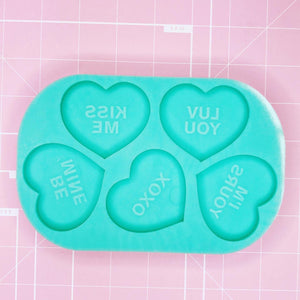 X-Large Mold - Conversation Hearts - Chala Atelier & Supplies