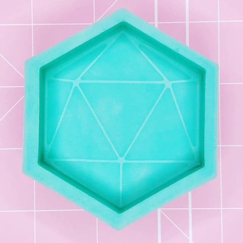Hexagon Mold -  Blank D20 Die Mold - Chala Atelier & Supplies