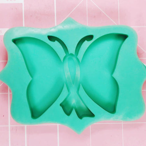 Medium Mold - Awareness Ribbon Butterfly Mold - Chala Atelier & Supplies