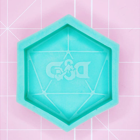 Hexagon Mold -  D&D Logo D20 Die Mold - Chala Atelier & Supplies